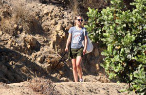 Natalie and Whiz hiking in Los Feliz