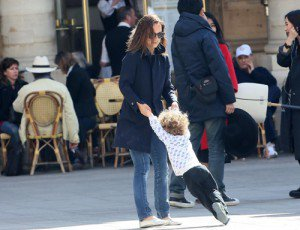 Natalie and family in France