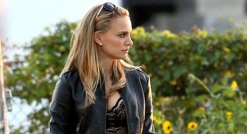 *EXCLUSIVE* Natalie Portman brings sexy to the set of the Untilted Terrence Malick Project