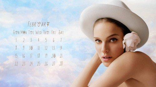 Natalie Portman February calendar