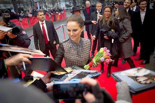 Natalie Portman arriving at Berlinale