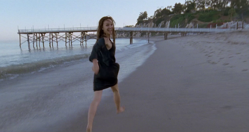 Natalie Portman on the beach in Knight of Cups