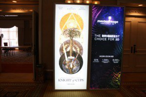 'Knight of Cups' Poster at CinemaCon