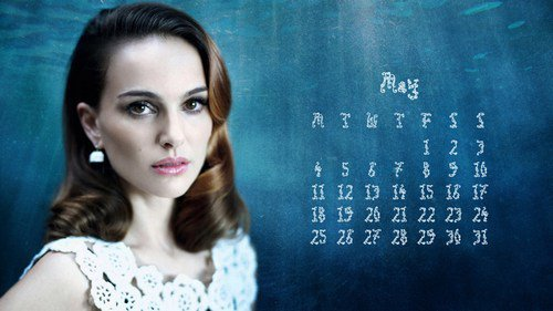 Natalie Portman calendar May 2015
