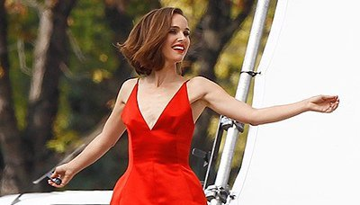 Natalie Portman films Dior in Paris
