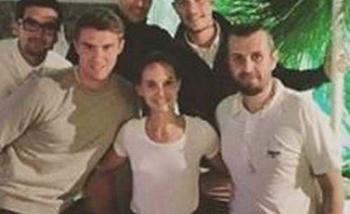 Natalie Portman with Planetarium team