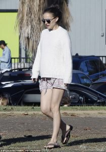 Natalie out and about in LA