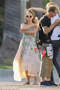 Filming in Beverly Hills
