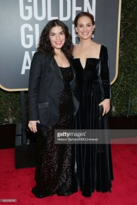 Natalie at the Golden Globes