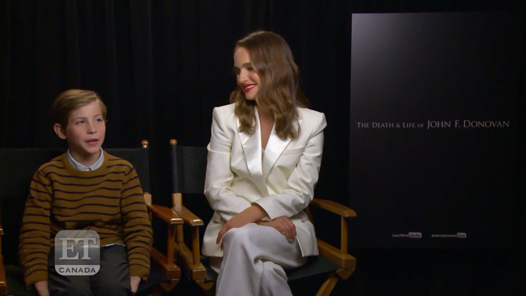 Natalie and Jacob Tremblay for ET Canada