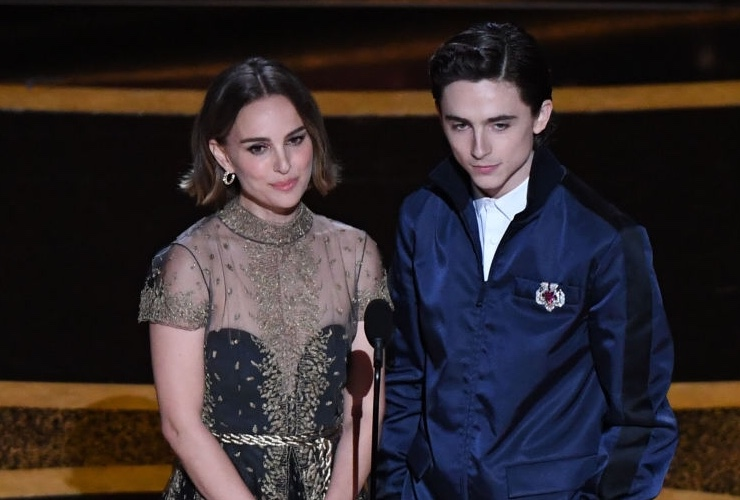 Natalie and Timothée at the Oscars