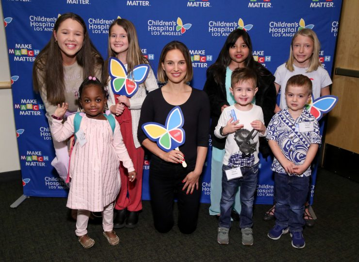 Natalie Portman at Children's Hospital LA