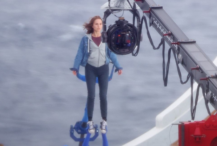 Natalie's first photos on the set of Thor Love and Thunder